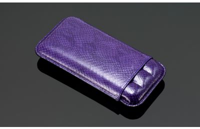 Lizard Print Leather cigar case (3 sticks)